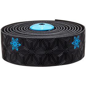 Supacaz Super Sticky Kush Starfade Handlebar Tape, neon blue print